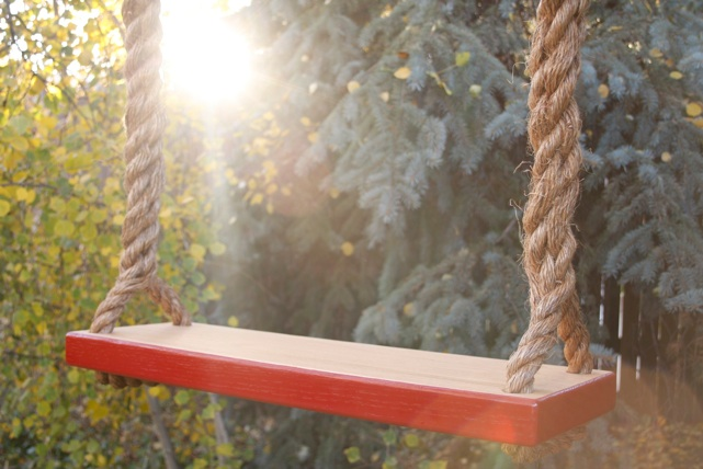 Wooden Rope Swings from Sky Saddle Swings